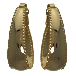 Blithe Gold tone Hoop Clip On Earrings