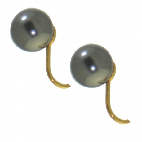 HADRIA 10mm gold plated cream faux Pearl Clip On Earrings