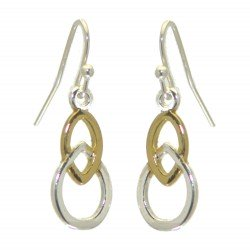 AARATRIKA gold and silver plated teardrop hook earrings
