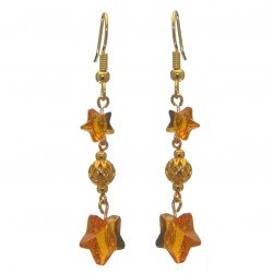 STARS and BALL gold plated topaz STARS and BALL hook earrings