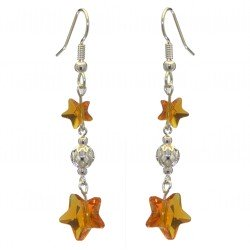 STARS and BALL silver plated topaz STARS and BALL hook earrings
