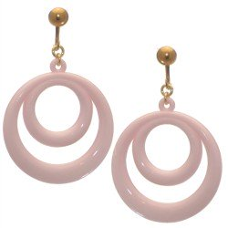 Amiela Gold plated Baby Pink Clip On Earrings