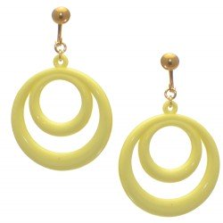 Amiela Gold plated Baby Yellow Clip On Earrings
