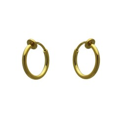 Cerceau 13mm Gold Plated Hoop Clip On Earrings
