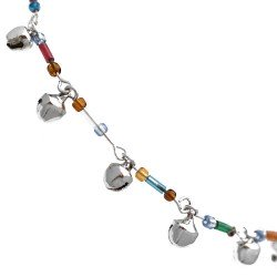 Malti Silver tone Multi Coloured Ankle Chain