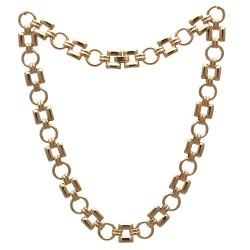 Circles & Squares Gold Plated Choker Necklace