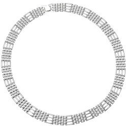 Gate Silver Plated Choker Necklace