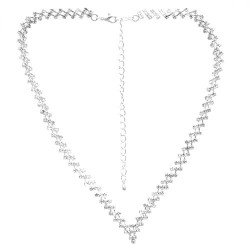 Vantage Silver Plated Crystal Choker Necklace