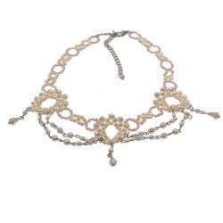 Abrianna White faux Pearl Choker Necklace