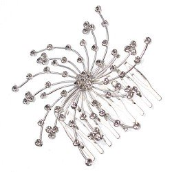 Comet Silver Crystal Hair Comb