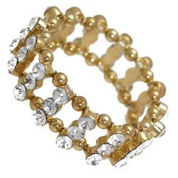 Amondi Gold tone Crystal Bracelet