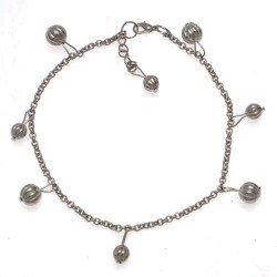 FIROZA Silver Plated Ankle Chain
