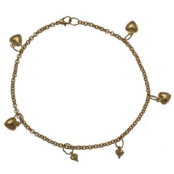 JAIWANTI Gold Plated Ankle Chain