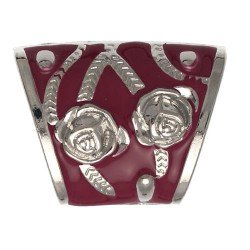 AMARANTHUS Silver tone Red 37mm Scarf Ring